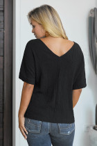 Blusa abbottonata di cotone Soak It Up nera