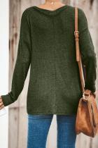 Grön fast knuten stickad topp