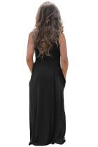 Black Girls Suspender Pocket Dress