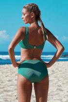 Grön Knut Beskuren Bikini Set