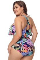 بالاضافة الى حجم متعددة الالوان Strappy ارتفاع الخصر ملابس السباحة