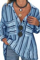เสื้อเบลาส์ Buttoned Down Blue