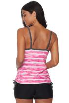 Rosy Print Tankini Plavky