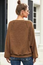 Sweatshirt brun trouvé mon ami