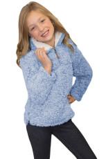 Blue Luxe Fuzzy Pullover Sherpa dívčí mikina