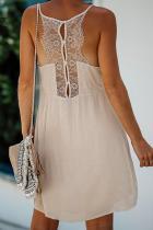 Бежевое кружевное платье Babydoll