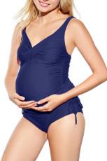 Dámské plavky Nany Blue Ruched Maternity Tankini