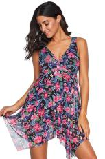 Floral Swimdress One Piece Swimsuit
