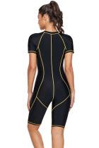 Gul sydd konturerad Zip Front Wetsuit
