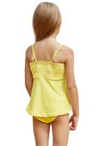 Jasny żółty drukowane stroje kąpielowe dla dzieci Kid Tankini