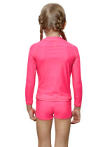 Rosy Long Sleeve Rash Guard för små tjejer