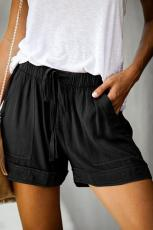 Black Strive Pocketed Shorts