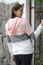 Rosa färgblock med dragkedja med dragkedja och dragkedja