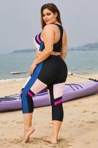 Rózsaszín színű blokkos javítás plusz méretű szörfözéses bőrkiütés-védő