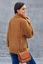 옐로우 청키 터틀넥 스웨터