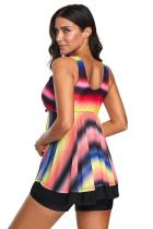 Set Tankini Baju Renang Ombre Multicolor Tie Dye
