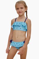 Little Stars Print Turkis Little Girls Bikini