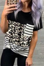Leopard Striped Camo Pocket T-shirt
