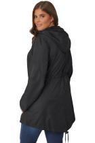 블랙 플러스 사이즈 포켓 파카 재킷