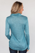 Sky Blue All This Time Zipper Pullover Top