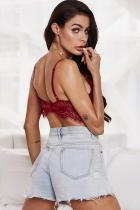 Red Live A Little Fun Lace Bralette