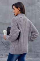 Grå chunkig turtleneck tröja
