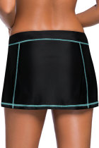 Sky Blue Stitch Trim Black Swim Sukně Spodek