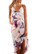 Witte bloemenprint Boho-jurk