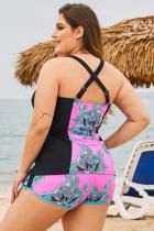 Rose Floral Block Plus Swimwear