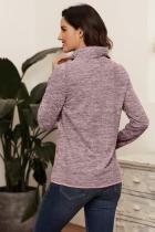 Pink Quarter Zip Pullover Sweatshirt