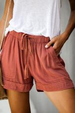 Orange Strive Pocketed Shorts