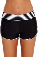 Černé bílé pruhované Trim Swim Board šortky