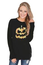 Sweatshirt med dragkedja med dragkedja i Halloween-tema