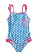 Blue White Polka Dot One Piece Купальник для детей