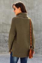 Sage Green Cozy Long Sleeves Turtleneck Sweater