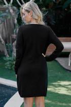 블랙 넥타이 스웨터 드레스 가자