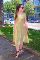 옐로우 프라하 드레스