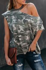 Naamiointikuvio Leikkaa olkapäät T-paita
