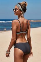 Baju Renang Bikini Cetak Retro Hijau