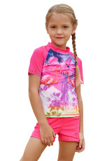 Girl Beach Day Comfortable Shirt and Short Set