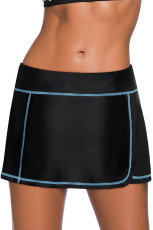 Blue Stitch Trim Black Swim Sukně Spodek