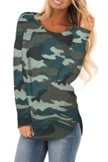 Green Stand For Something Camo Knit Top