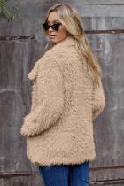 Khaki Fur pitkähihainen takki