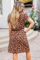 Brown Cheetah Tunika Kleid