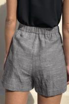 Musta solmio vyötärö rento liinavaatteet taskuilla
