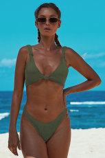 Green Knotted Bikini Baddräkt i två delar