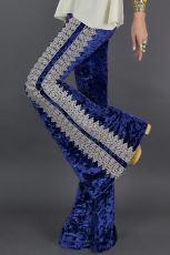 Siniset virkkausnauhat Velvet Flare -housut
