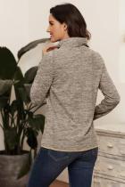 Khaki Quarter Zip Pullover Sweatshirt