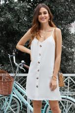 Vestido Branco com Botões