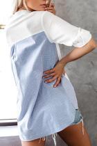 Παρασκευή Σε Five Striped Button Contrast Down Μπλούζα